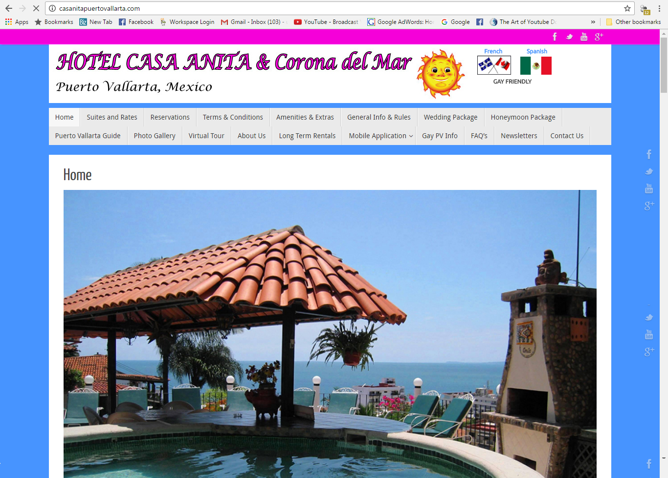 Hotel Casa Anita Website Design