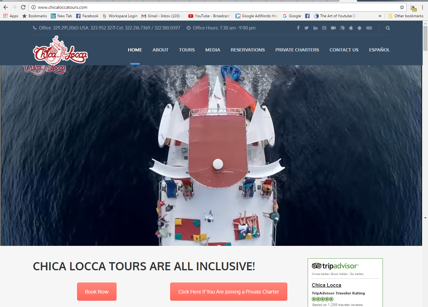 Chica Locca Tours Website Design
