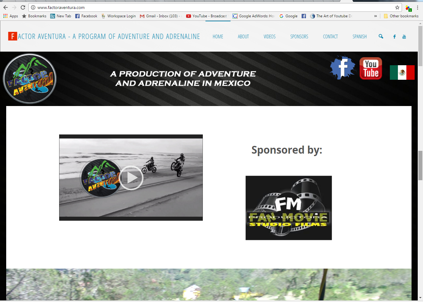 Factor Aventura Website