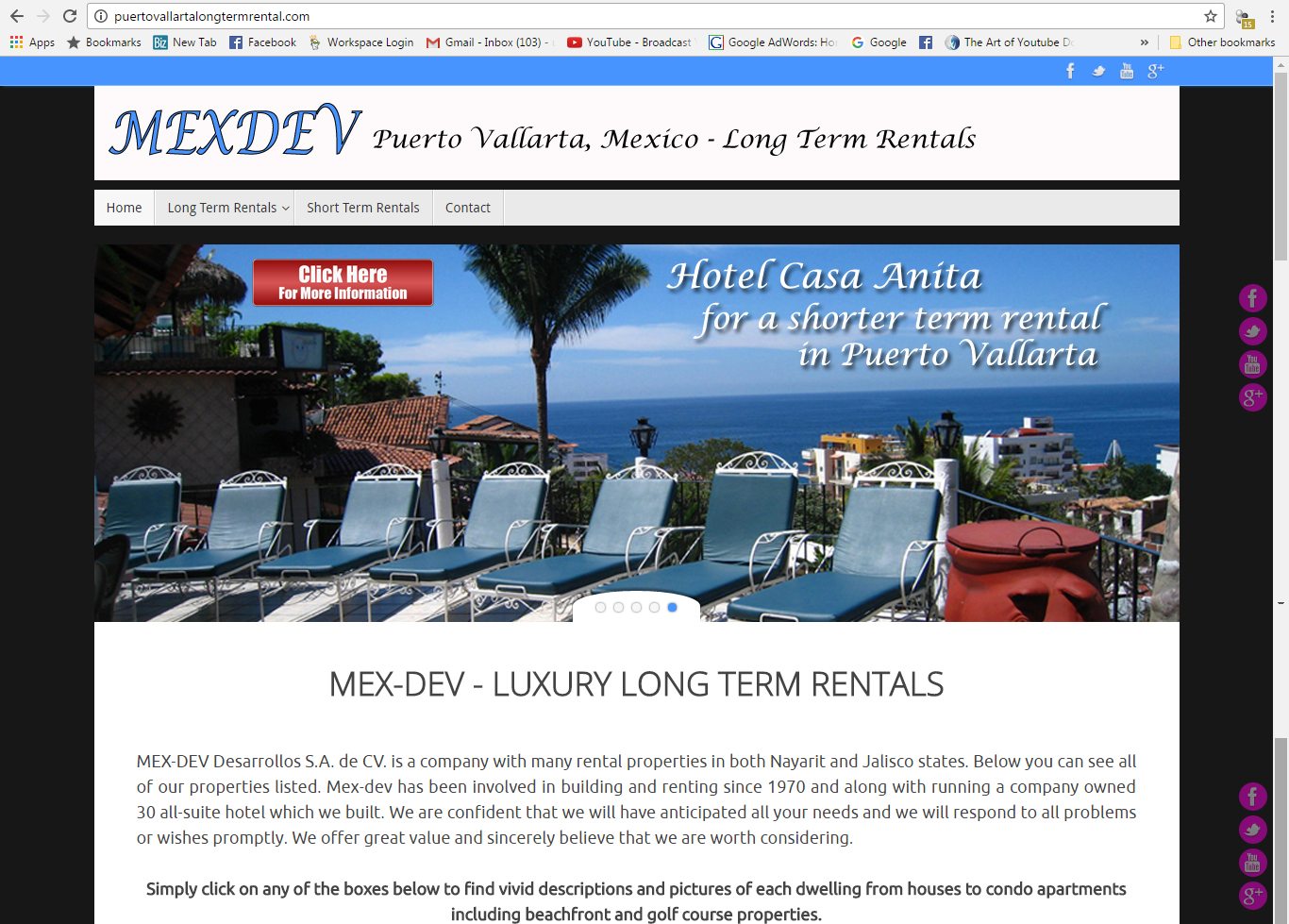 Puerto Vallarta Long Term Rental Website