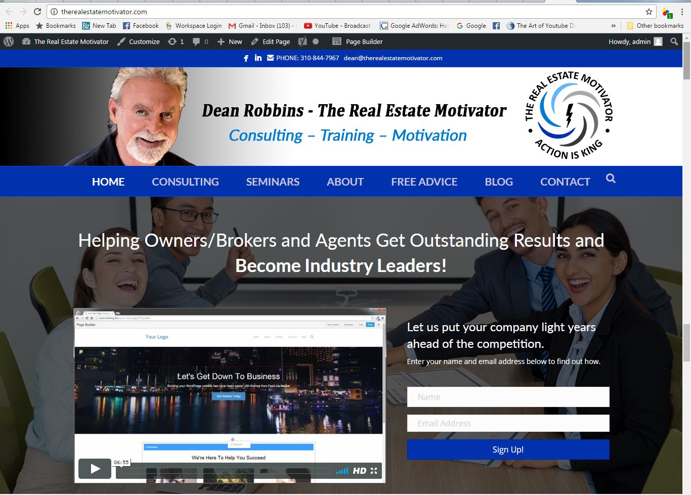 The Real Estate Motivator Website Design