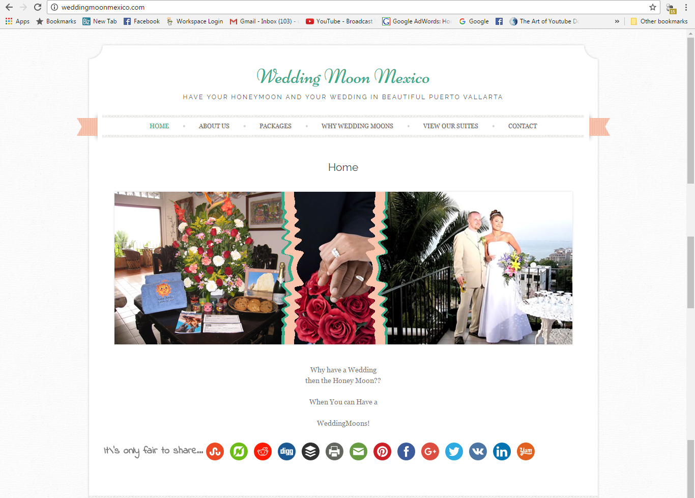 Wedding Moon Mexico Website